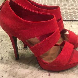 Steve Madden Red Sandal Heels